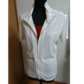 ジャンポールゴルチエ(Jean-Paul GAULTIER)のジャンポール ゴルチェ ジップアップ カットソー S 48 ホワイト(Tシャツ/カットソー(半袖/袖なし))