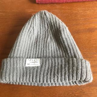レプシィム(LEPSIM)のLEPSIM ニット帽 グレー(ニット帽/ビーニー)