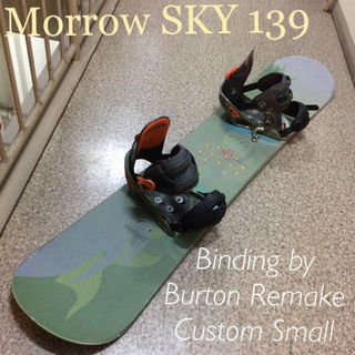 バートン(BURTON)のMorrow SKY139 +Burton Custom Small(ボード)