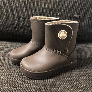 クロックス(crocs)のcrocs ボア キッズブーツ C9 16.5cm ブラウン 長靴(ブーツ)