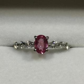 天然パパラチャサファイア×ダイヤモンドリング(リング(指輪))