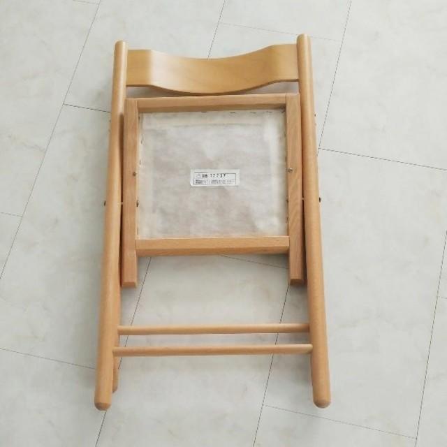 MUJI (無印良品)(ムジルシリョウヒン)の無印良品 折り畳み式 椅子 チェアー インテリア/住まい/日用品の椅子/チェア(折り畳みイス)の商品写真