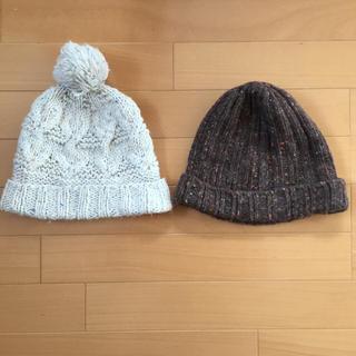 ムジルシリョウヒン(MUJI (無印良品))の149.無印/ニット帽2点セット(ニット帽/ビーニー)