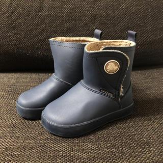 クロックス(crocs)のcrocs ボア キッズブーツ C9 16.5cm ネイビー 長靴(ブーツ)