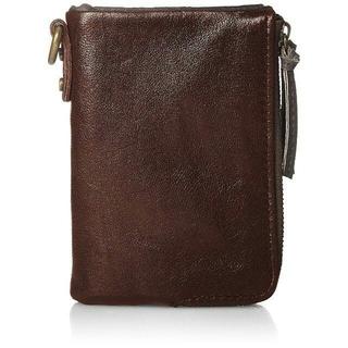ディバイス(device.)の[デバイス] 二つ折り財布  ヴィンテージ  ダブルジップ ブラウン(折り財布)