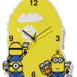 アベイシングエイプ(A BATHING APE)のミニオン エイプ 限定 コラボ 時計 希少(掛時計/柱時計)