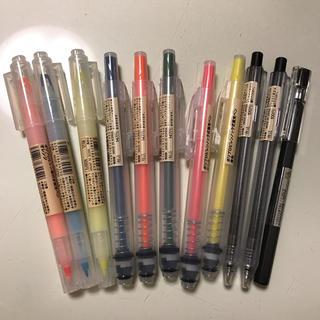 ムジルシリョウヒン(MUJI (無印良品))の無印良品11本ペンセット新品未使用(ペン/マーカー)