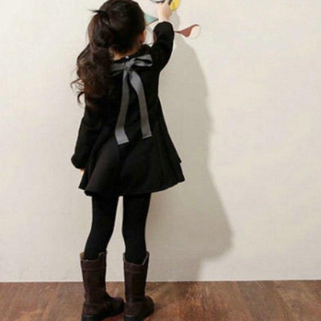 《新品》値下げ❗️海外 女児 あったか裏起毛 フレア ワンピース ミニ  100 キッズ/ベビー/マタニティのキッズ服 女の子用(90cm~)(ワンピース)の商品写真