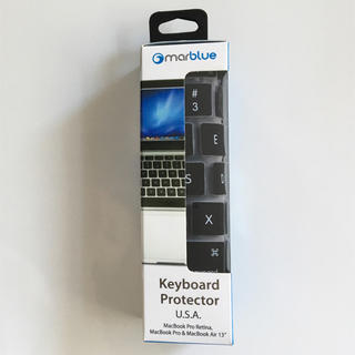マック(Mac (Apple))のMacBook Air / Pro  USキーボードカバー(PC周辺機器)