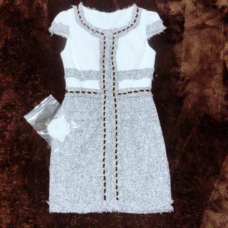 ジュエルズ(JEWELS)の新品Jewelsツイードキャバドレス(ナイトドレス)