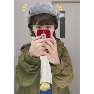 帽子 かちこちゃん フライト キャップ 冬 灰 グレー ブラック 黒ハット(ハット)