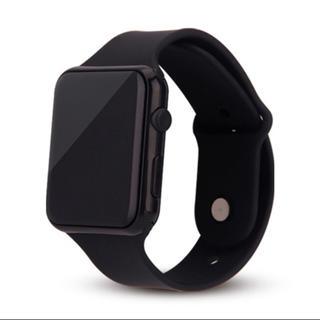 デジタルウォッチ (ブラック カラー) 軽量 防水腕時計 新品未使用 クール(腕時計(デジタル))