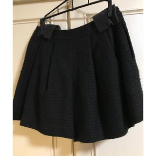 アベニールエトワール(Aveniretoile)のサイズ34 ブラック キュロットスカート(キュロット)