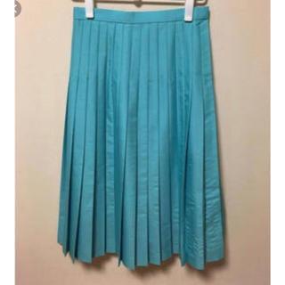 ドゥロワー(Drawer)の美品♡Drawer プリーツスカート ドゥロワー ターコイズ 36(ひざ丈ワンピース)