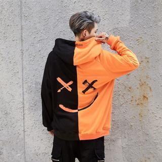 G-DRAGONモデル オレンジ×黒 パーカー BIGBAN 韓国(パーカー)