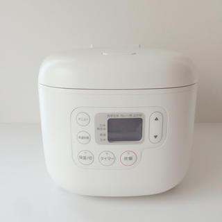 ムジルシリョウヒン(MUJI (無印良品))の無印良品 しゃもじ置き付き炊飯器 3合(炊飯器)