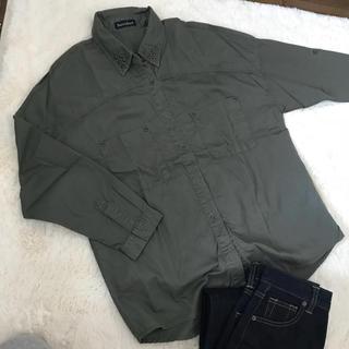 シマムラ(しまむら)のカーキ ワークシャツ(ミリタリージャケット)