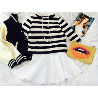 ルシェルブルー(LE CIEL BLEU)のルシェルブルーストレッチ素材のスカート(ミニスカート)