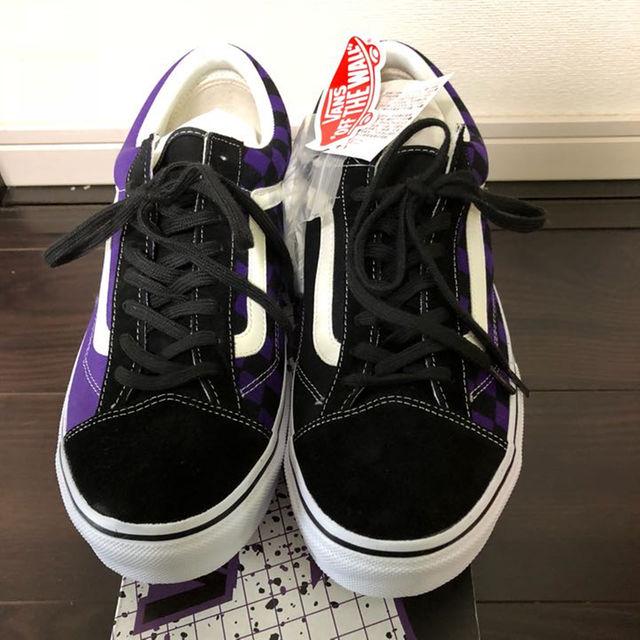 VANS(ヴァンズ)の新品込み style36 vans ビリーズ限定 紫黒 29cm メンズの