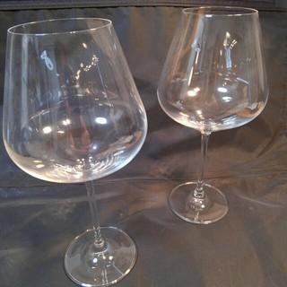 ムジルシリョウヒン(MUJI (無印良品))の未使用 送料込み クリスタルワイングラス大 2個セット (グラス/カップ)