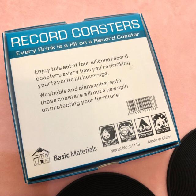 新品!▪️レコード型 コースター2枚セット▪️黒ヒップホップダンスレゲエ エンタメ/ホビーのCD(R&B/ソウル)の商品写真