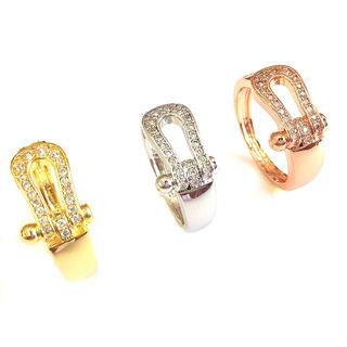 話題商品☆18K金コーティング☆ホースシュー指輪 (リング(指輪))