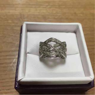 K18WG (10.86g)ダイヤ0.55ct リング(リング(指輪))