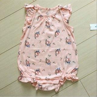 ベビーギャップ(babyGAP)の新品♡baby gap 70 花柄 ボディオール ロンパース(カバーオール)
