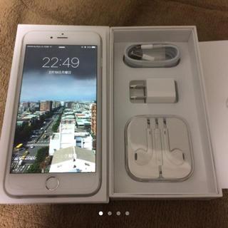 アップル(Apple)のiPhone6 plus 128GB docomo シルバー極美品 電池交換済み(スマートフォン本体)