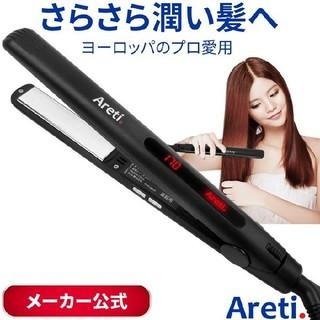 マイナスイオン ストレート ヘア アイロン(黒) 20mm i679BK(ヘアアイロン)