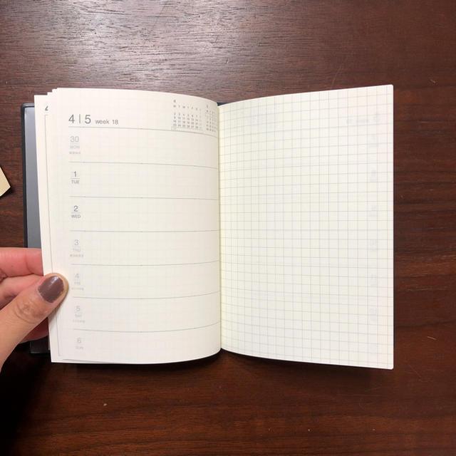 MUJI (無印良品)(ムジルシリョウヒン)の無印良品 手帳 スケジュール帳 インテリア/住まい/日用品の文房具(カレンダー/スケジュール)の商品写真
