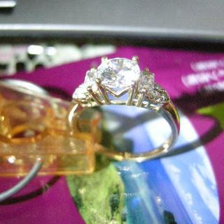 セイブヒャッカテン(西武百貨店)のブリリアントカットダイヤモンド デザインリング K18 2.12ct 幅約8mm(リング(指輪))