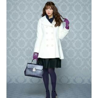 ドーリーガールバイアナスイ(DOLLY GIRL BY ANNA SUI)の3月削除 【新品タグ付】 エアリーライトメルトンコート サイズ1 (ピーコート)