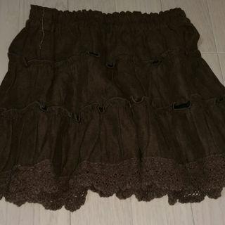 シマムラ(しまむら)のスエード素材スカート  秋冬(スカート)