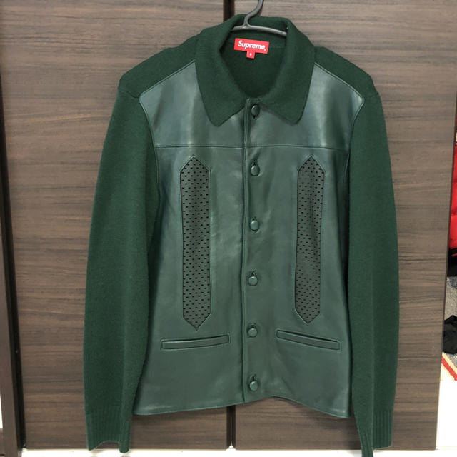 c91ac7426 Supreme - saki様 supreme Leather Front Polo Sweaterの通販 by mah s ...
