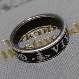 ヴィヴィアンウエストウッド(Vivienne Westwood)のコンジットストリートリング 18号 ブラック(リング(指輪))