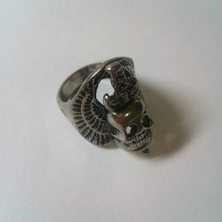 韓国製 メンズ スカル ドクロ 髑髏 リング (リング(指輪))