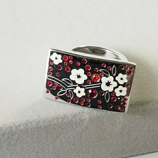 桜 デザインリング  ファッションリング カラーストーン #13〜14(リング(指輪))