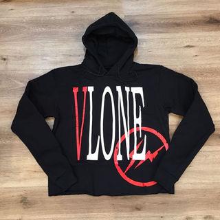 シュプリーム(Supreme)のVLONE×fragment staple hoodie Mサイズ(パーカー)
