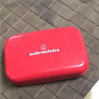 オーディオテクニカ(audio-technica)の【かる様専用】audio-technicaスピーカー 赤(スピーカー)