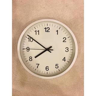 ムジルシリョウヒン(MUJI (無印良品))の無印良品 アルミ ウォールクロック 掛時計(掛時計/柱時計)