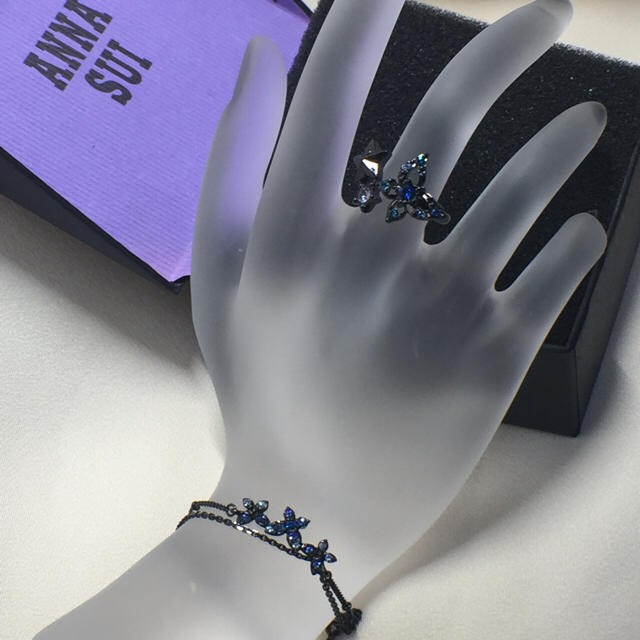 ANNA SUI(アナスイ)のアナスイ ANNA SUI 指輪 ブレスレットセット バタフライモチーフ レディースのアクセサリー(リング(指輪))の商品写真
