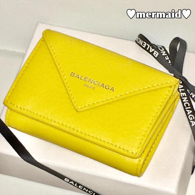 uk availability b07ee 068b9 ♡新品♡BALENCIAGA♡バレンシアガ♡ペーパー ミニウォレット 財布 黄色   フリマアプリ ラクマ