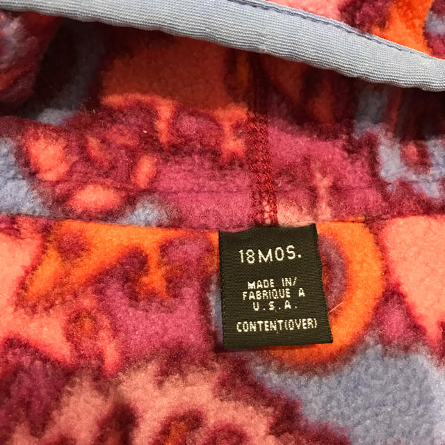 patagonia(パタゴニア)のpatagonia  パタゴニア ベビー キッズ フリース パーカー キッズ/ベビー/マタニティのベビー服(~85cm)(ジャケット/コート)の商品写真