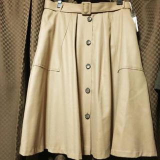 ラクープ アルディラ トレンチスカート F4  23号 21号 ベージュ(ひざ丈スカート)