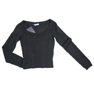 プラダ(PRADA)のプラダPRADAカシミア100% Uネックセーター 黒 #38(ニット/セーター)