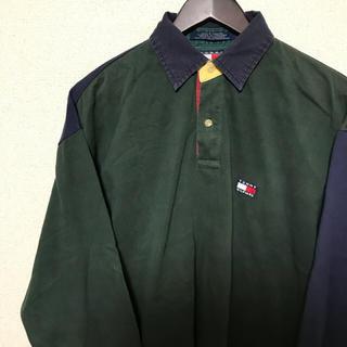 トミーヒルフィガー(TOMMY HILFIGER)の90s tommy hilfiger セーリングギア ラガーシャツ(Tシャツ/カットソー(七分/長袖))