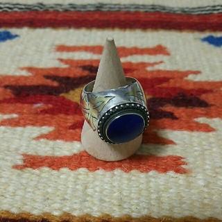 インディアン(Indian)のインディアンジュエリー☆ナバホ族 ヴィンテージ ラピスラズリシルバーリング 指輪(リング(指輪))