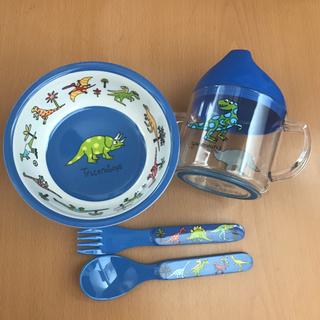ラシェーズロング(La Chaise Longue)のティレルカッツ ベビー食器4点セット(離乳食器セット)