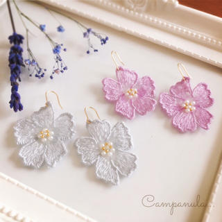 Spring flower lace(ピアス)